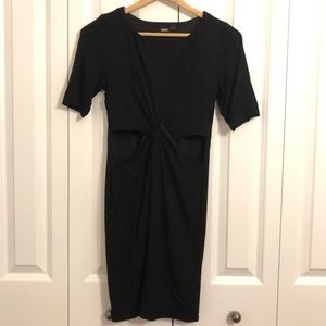 LBD with twist front and cut-outs